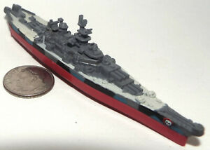 Micro Machine Military Plastic US Navy Iowa Class Battleship with Red Skull