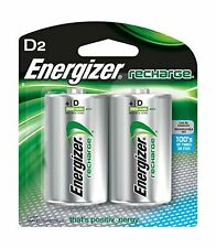 Energizer Rechargeable D Batteries NiMh 2500 mAh 2 Count Wide Range of Chargers