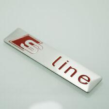 3D Cromo S Line 1 piezas insignia de la Etiqueta Engomada Para AUDI A3 S3 A4 S4 A5 S5 Q3 Q5 Q7 S115