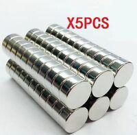 5pcs Strong Mini Round Cylinder Bar Magnets 12*5mm Rare Earth Neodymium N35 ♫