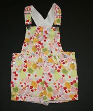 New H&M Flowers and Fruit Pattern Overalls Size 9-12m NWT Lemons Strawberries