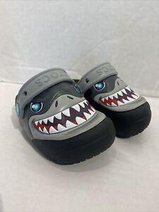 Crocs Shark, Light Up Shoes, Size C7