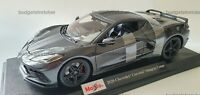 NEW MAISTO 1:18 Diecast Model Car 2020 Chevrolet Corvette Stingray Coupe Grey