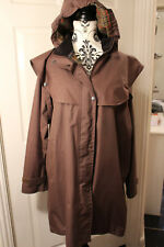 JACK MURPHY SIZE 18 LADIES BROWN SHOULDER CAPE COTSWOLD HALF LENGTH COAT