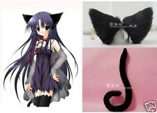 Lovely Party Anime Cosplay Kitty Cat ears and tail set Black