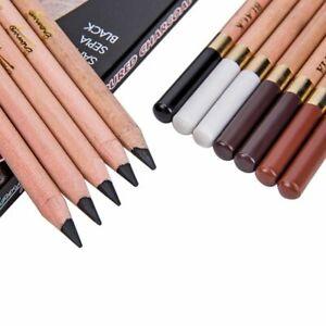 12 Pcs/box Soft Pastel Pencils Artist Charcoal Pencil Non Toxic Wooden Pencil Sk