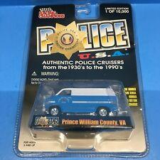 Racing Champions Police USA 1975 Chevy Van Prince William County VA