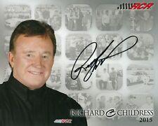 RICHARD CHILDRESS Signed Autographed 8x10 Hero Card, Postcard, Photo, NASCAR