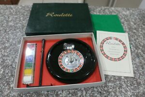 VINTAGE FRENCH ROULETTE SET ROULETTE WHEEL 1970'S GAME COLLECTABLE