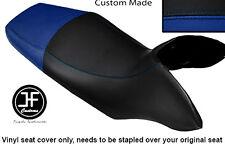 BLACK AND R BLUE VINYL CUSTOM FITS HONDA TRANSALP XL 700 V 08-12 DUAL SEAT COVER
