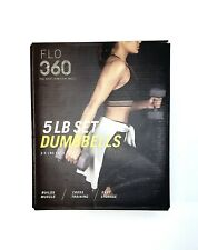 NEW FLO 360 5 LB Set Dumbbells Gray (2.5 LBS Each) Weights/Yoga/Workout