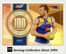 2015 AFL Champions Milestone Holofoil Card MG84 Eric Mackenzie (W.Coast)