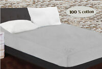 100% cotton single fitted bed sheet 90 x 200 cm plain sheet 35 x 79 in