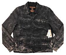 Rock Revival Denim Jean Jacket Mens XL Luciano Wash Black Distressed
