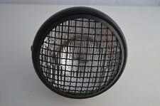 """7"""" MESH GRILL BLACK HEADLIGHT 55W TRIUMPH BMW CAFE RACER-WHY PAY £70+ ELSEWHERE"""