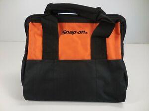 SNAP-ON POWER TOOLS MECHANIC'S ZIPPER GEAR BAG TOTE STORAGE CARRIER BLACK/ORANGE