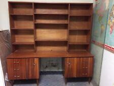 Mid century 60s Mahogany desk with bookcase.