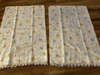 Beautiful Vintage White Pillowcases Crocheted Hem Pencale Muslin JC Penny