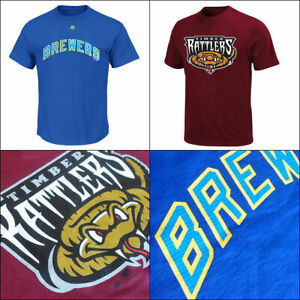 Milwaukee Brewers MLB PLUS Affiliate Timber Rattlers MiLB T Shirts