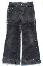 Vtg Mens 1970s Disco Dance Flared Retro Bell Bottom Studded Corduroy Pants 30