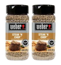 2-Pack Weber Steak 'N Chop Seasoning 8.5 Oz Made With Natural Sea Salt - New