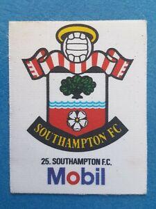 Mobil Football Club Badges Silk 1983 Southampton