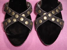 """BROWN SUEDE Slide Nail Heads """"Cybil"""" by Jessica Bennett 7.5~8.5    NEW~FREE SHIP"""