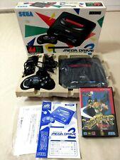 Mega Drive 2 Console 16 BIT SEGA(Japan model)tasted.Boxed,With a retro game soft