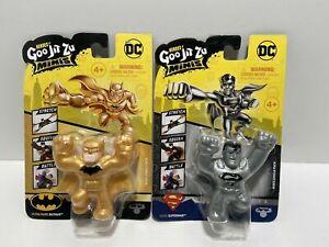 Heroes of Goo Jit Zu Minis BATMAN Gold Ultra Rare & Silver Rare SUPERMAN NEW!!!