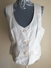 Papaya Womens Waistcoat Plus Size 18 Ivory White Buttons Pocket Imitation