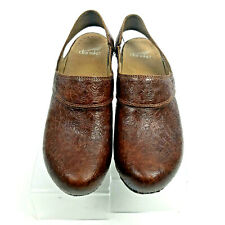 Dansko Brown Leather Casual Comfort SLING BACK Clog Shoe Womens 38/8
