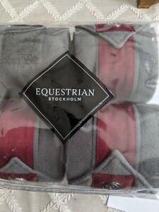 Equestrian Stockholm Grey Bordeaux Polos, new