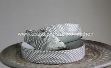 Leather Belt Genuine Cobra SnakeSkin Head Belt Unisex Handmade Gray