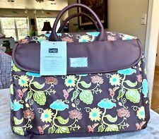 Stampin' Up! Greenhouse Gala Laptop Bag Case Brown with Flowers