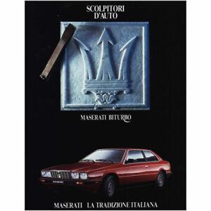 1984 Maserati Biturbo: Scolpitori D Auto Vintage Print Ad