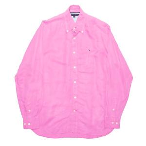 TOMMY HILFIGER Pink Plain Long Sleeve Shirt Mens S
