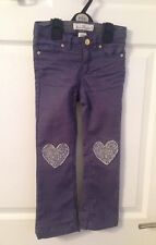 Kids H&M Blue Heart Knee Jeans 👖- Age 5-6yrs