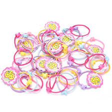 50Pcs Assorted Elastic Rubber Hair Rope Band Ponytail Holder for Kids Girl Fad
