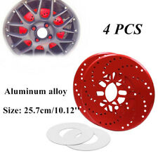 4PC/Set Car Aluminum Alloy Wheel Brake Disc Cover Decorative Rotor Cross Drilled