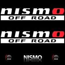 "(2) NISMO OFF ROAD Die Cut Decal Stickers WHITE and RED 12"" 4X4 Titan truckbed"