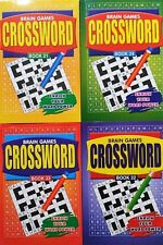 SALE: 4 x Brain Games Crosswords  books ,Enrich Your Word Power - ONE of  BEST !