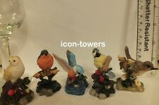 "5 x 2"" Mini / Miniature Various BRITISH BIRDS Figures / Ornaments   Owl, Robin"