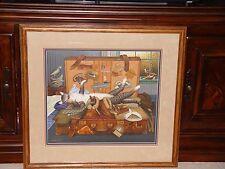 Charles Wysocki Mabel the Stowaway Americana Art Limited Edition Custom Framing