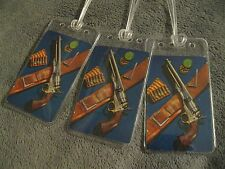 Country Western Revolver Pistol West Gun Vintage Playing Card Luggage Name Tags