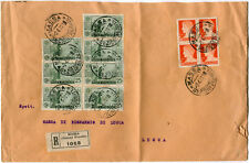 1931 S. Antonio blocco 7x 25 cent.+ 1,75 lire Imperiale Busta Raccomandata Massa