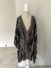 Diane von Furstenberg striped silk Kaftan size P/ XS