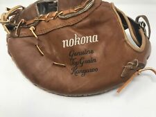 New Nokona Buckaroo Series: SBM100K 14 Inch Softball First Base Mitt Brown