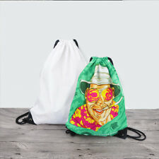 10pcs diy Sublimation White blank diy backpack Print Men women swimming bag