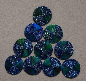 10 x 12 mm 'Dark BLUE AB Pyramid' Flat backed Acrylic Cabochons        (h137)