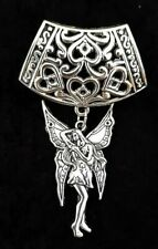 Wiccan - Pagan - Myth - Fantasy- Only 1 Heart Scarf Ring + A large Fairy Charm -